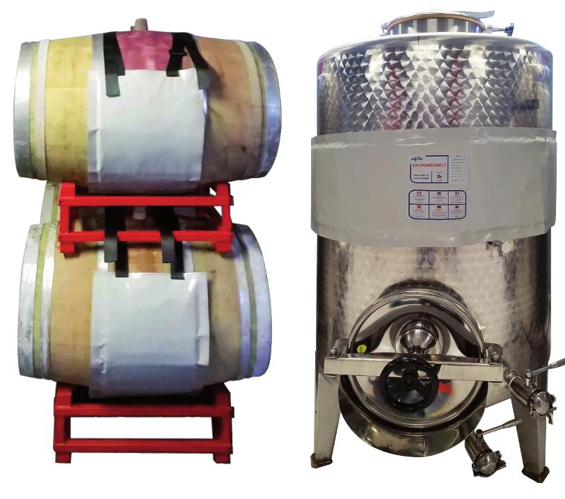 Fasce elettriche per il riscaldamento di serbatoi, botti e cisterne